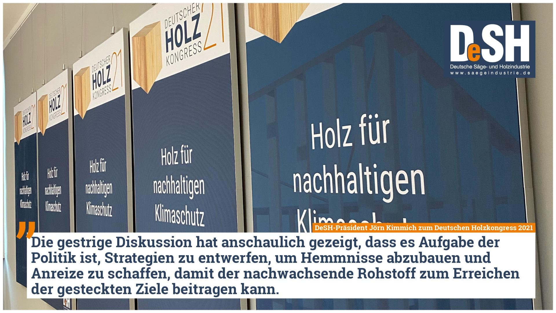Einstimmiges Bekenntnis zu Holz beim Auftakt des Deutschen Holzkongresses