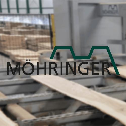 Möhringer Anlagenbau GmbH Logo samt Anlage im Hintergrund